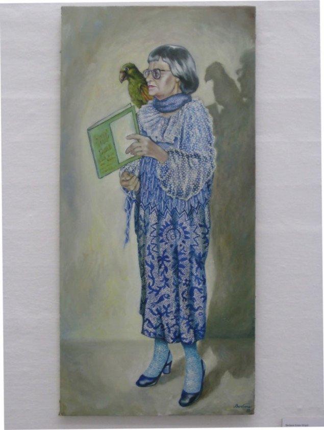 Barbara Gress Wright, Portrætmaleri (Elsa Gress), 1988, afsæt for Bettina Camilla Vestergaards Marienborg 1972-2009. Foto: Kasper Lie.
