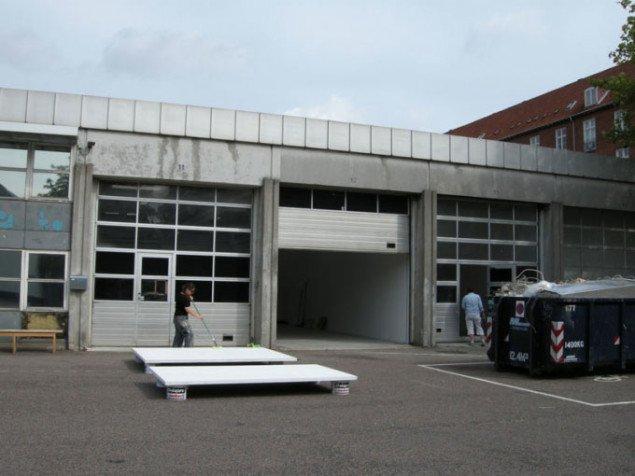 Sådan så IMOs facade ud tre dage før åbningen. Foto Solveig Lindeskov Andersen