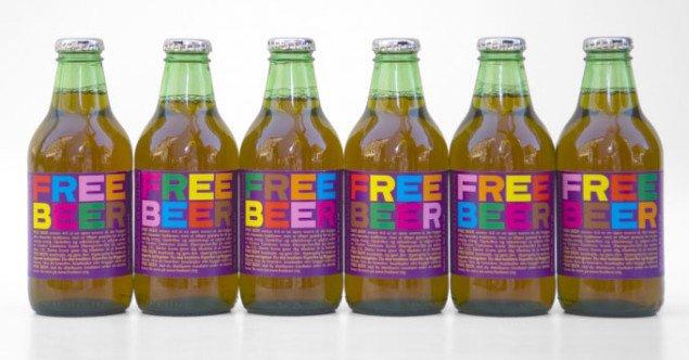 Free Beer: Free som i frihed, og ikke som i gratis. En del af Superflex' Supercopy-serie. Pressefoto