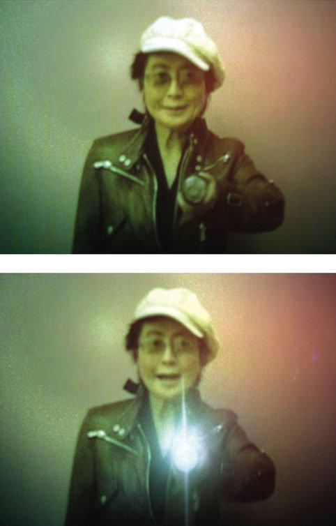 Yoko Ono - en af de prominente gæster i Senko Studio. Pressefoto.