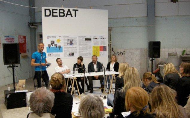 Debatmøde på Alt_Chp med Kristoffer Akselbo, Henriette Bretton Meyer, Bjørn Nørgaard og Merete Sanderhoff. Foto: Jan Falk Borup