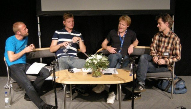 Matthias Borello,Tom Hermansen, Toke Lykkeberg og Kaspar Bonnén. (Foto Solveig Lindeskov Andersen)