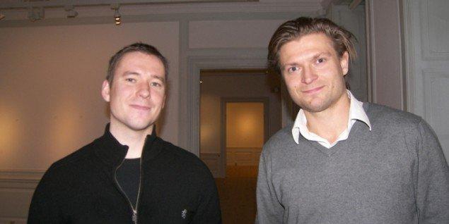 Museumsdirektør og kurator Mads Damsbo og bestyrelsesformand Frederik Lindskov. Foto: Solveig Lindeskov Andersen