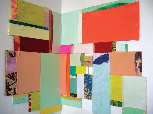 Ellen Hyllemose: Untitled, 2006. Mdf, lycra, maling. Pressefoto