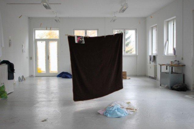 Udstillingsview fra kunstnernes studie. Foto: Paula Cobo og Luis Guerra