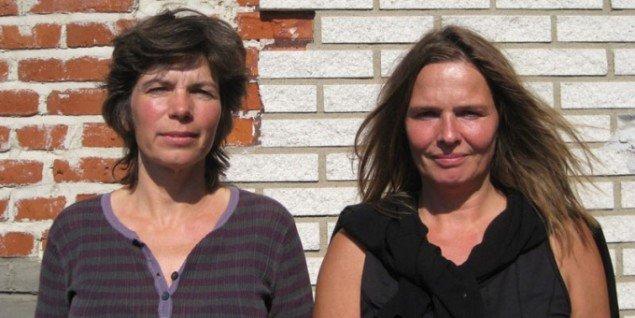 Portræt af kunstnerne Hanne Nielsen (t.v.) og Birgit Johnsen. (Foto: Kasper Lie)