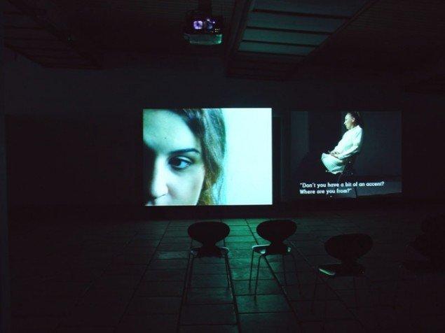 Territorielle Udsagn, Videoinstallation på 2 skærme, Listasavn, Færøerne 2005