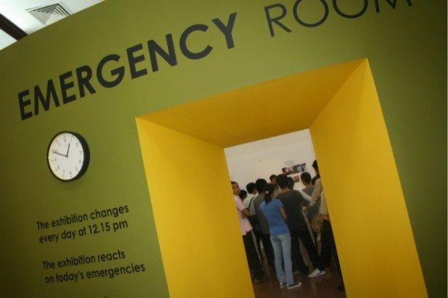 Formatet for Emergency Room danner rammen om det enkelte lands kunstneriske avis. Foto: Thierry Geoffroy