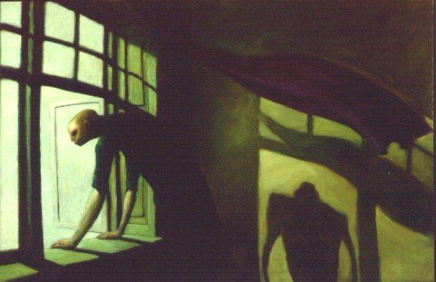 Michael Kvium: Selvportræt, 1985. Pressefoto