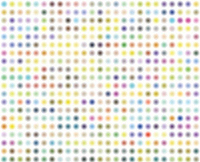 Man bliver svimmel af at se på dette værk. Mads Gamdrup Monochrome Colour Noise. Pressefoto