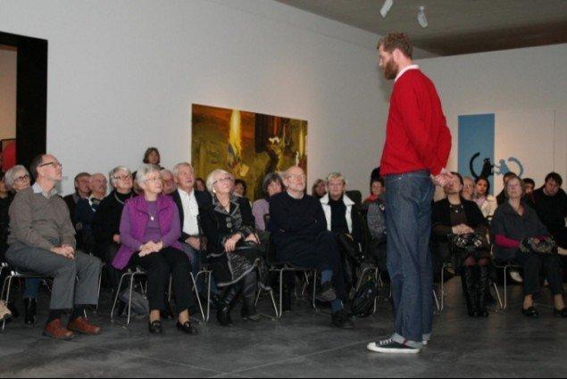 John Kørner svarer på spørgsmål fra publikum. Foto: Lasse Oxbøll