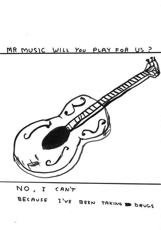 David Shrigley: Untitled (Mr Music), 2009. Pressefoto (Courtesy: Galleri Nicolai Wallner)