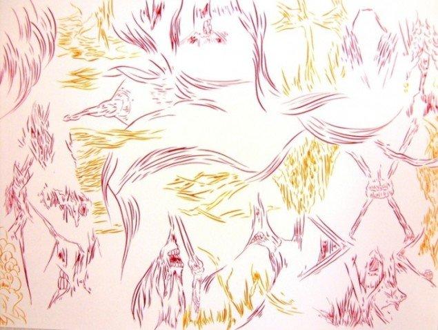 Tegning fra Mola Mola Moment. Foto Sergei Sviatchenko
