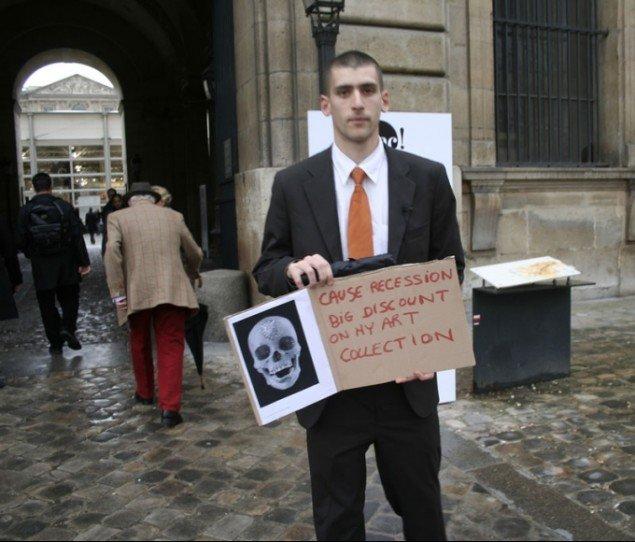 Man sporer en vis ironisk distance til kunsten blandt den aktivistiske gren af kunsten. (HQ/Pressefoto)