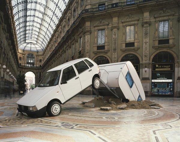 Elmgreen & Dragset: Shortcut, 2003 (installation view, Milan, Galleri Nicolai Wallner)