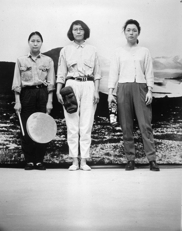 Pia Arke: De tre Gratier (front), 1993.