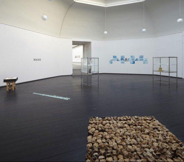 Installationsview fra Den Frie Udstillingsbygning. Temaafsnit om 'Scoresbysundhistorier'. (foto: Anders Sune Berg)