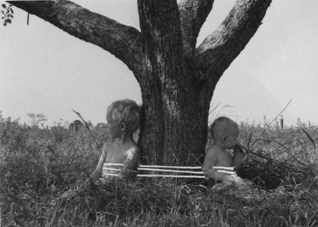 Kirsten Justesen: The Prairie Images, 1974, en del af udstillingen i Malmø. (pressefoto/Kirsten Justensen)