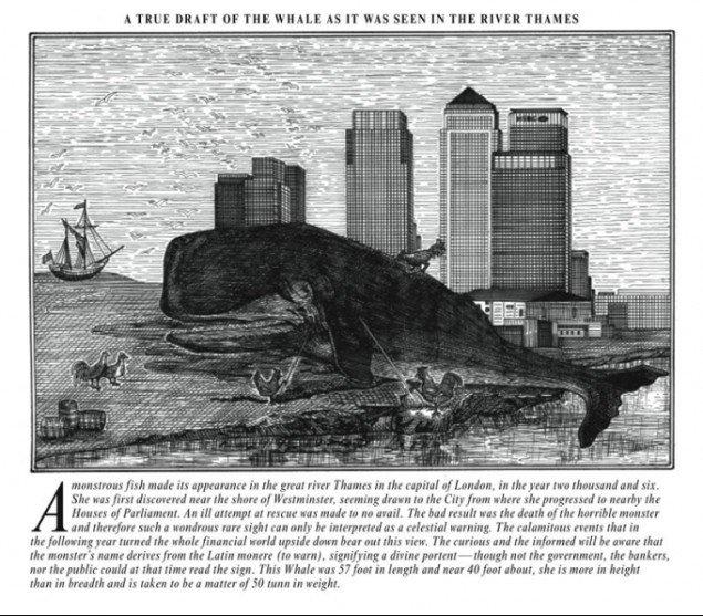 The Thames Whale, Olivia Plender, 2009. (Pressefoto)