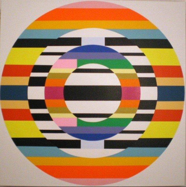 Dorte Lausten, Rolling, 2009, 100 x 100 cm. Foto: Bente Jensen