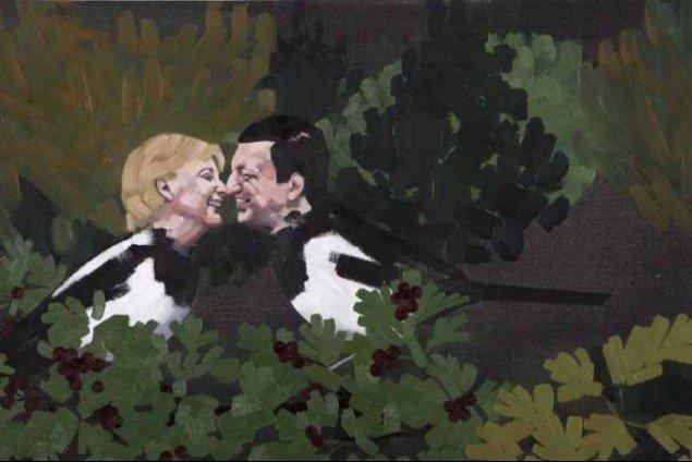 Angela og José flirter i Blombergs Alle de bær hun kunne spise. Pressefoto.