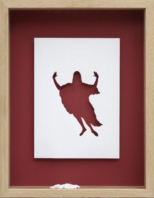 Den genopstandende Kristus med efterladt liglagen, Peter Callesen, Han er her ikke, 2009. Foto: Pressefoto.