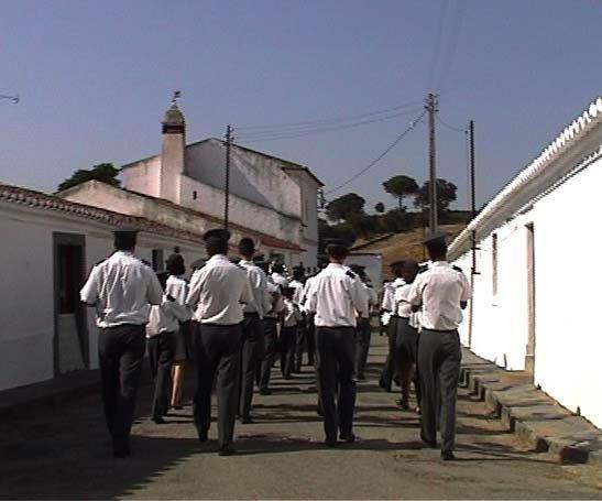 Procession i Portugesisk landsby. Videostill. Cecilie Gravesen