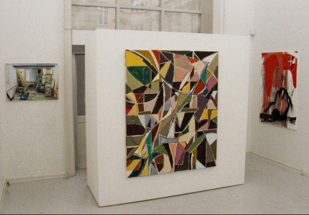 Installationsview med værker af Søren Martinsen, Mette Winckelmann og Claus Carstensen. (Pressefoto/David Risley Gallery)