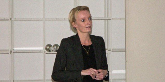Nete Nørgaard Christensen vendte vrangen ud på myterne under UKKs debat. (Foto: Solveig Lindeskov Andersen)