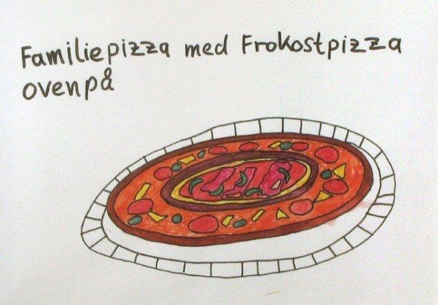 Andreas Schulenburg: Familiepizza med frokostpizza ovenpå. Pressefoto