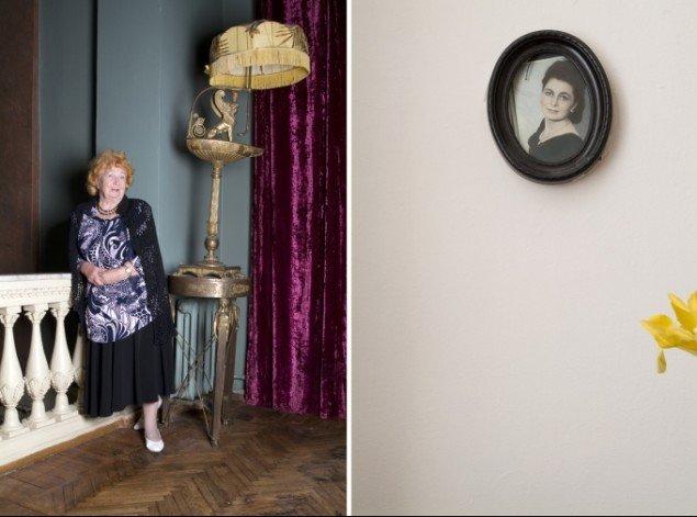 Lucia Ganieva, Gulkovskaya Tamara Federovna, 2007. I denne serie todeler Ganieva billedet, så det viser både personen samt attributter og ungdomsbilleder fra dennes liv.
