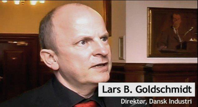 Lars B. Goldschmidt fra Dansk Industri understregede kreativiteten som en grundlæggende kvalitet i dansk sammenhæng. (foto fra videoreportage)