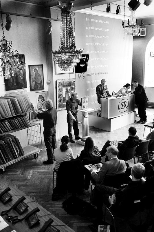 Auktion i Bruun Rasmussens lokaler i Bredgade. Pressefoto.