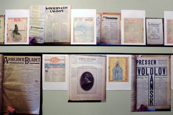 Det håndlavede magasin Kvik minder ikke så lidt om mange nyere kunstpublikationer i sit uortodokse layout. Fra Eva La Cours værk. Pressefoto.