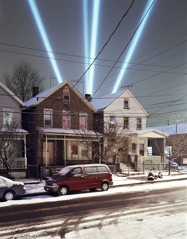Tim Davis: USA: Searchlights, 2005. (Greenberg Van Doren Gallery, New York)