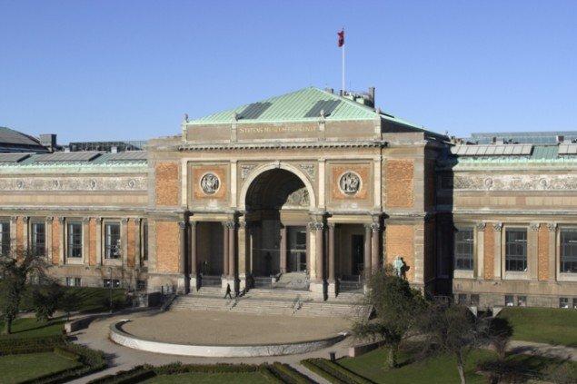 Facaden af J. V. Dahlerups bygning. (Pressefoto SMK)
