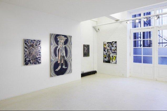 Udstillingsview fra den aktuelle udstilling med Peter Linde Busk i Galleri Christina Wilson. Pressefoto.