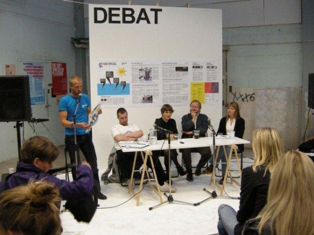 Her ses Merete Sanderhoff (yderst t.h.) under en debat om samtidskunstens selvforståelse ved Alt_Cph sidste år. (Foto: Solveig Lindeskov Andersen)