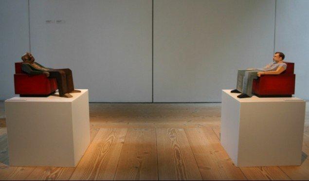 Underlige skulpturer af Matthias Nordéus. Foto: Kristian Handberg.