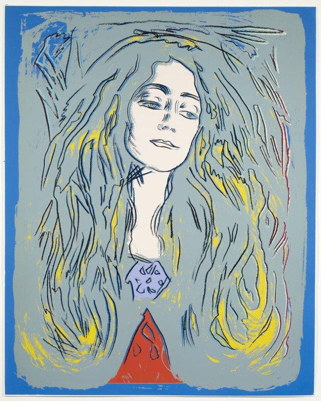 Andy Warhol: Eva Mudocci (after Munch), 1984 Silketryk, (Henriette Dedichen / Foto: Arild Bergseth)