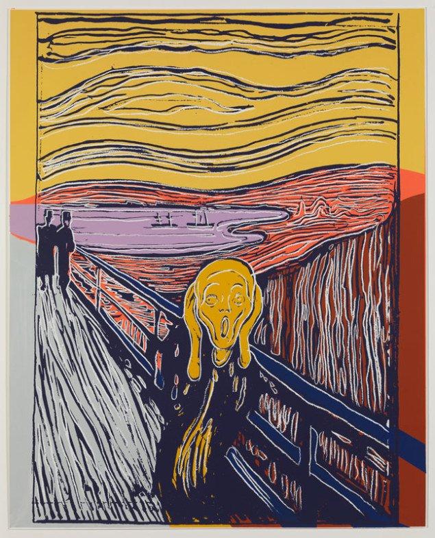 Andy Warhol: Skriget (after Munch), 1984 Silketryk (Henriette Dedichen / Foto: Arild Bergseth)