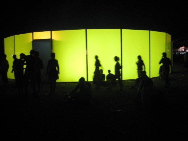 AVPDs installation på festivalpladsen (Foto: Pernille Rom Bruun)