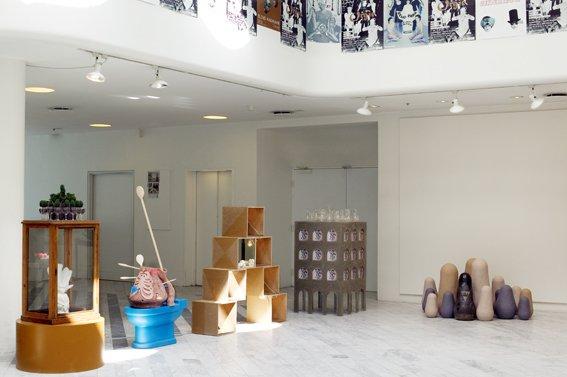 Installationsview af Orgie på Traneudstillingen. Foto: Louise Kontala