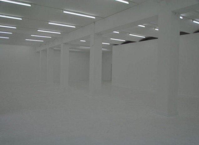 Tågerum, installation af Biennalens kurator, uden titel. (Foto: Gurli Sørensen)