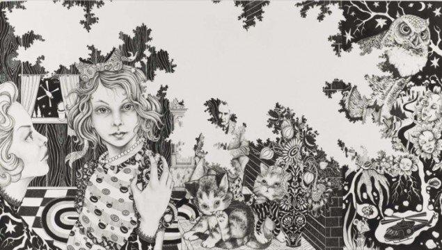 Et eksempel på tomrummet i Julie Nords værker ses her i The Bad Girl. Pressefoto fra ARoS