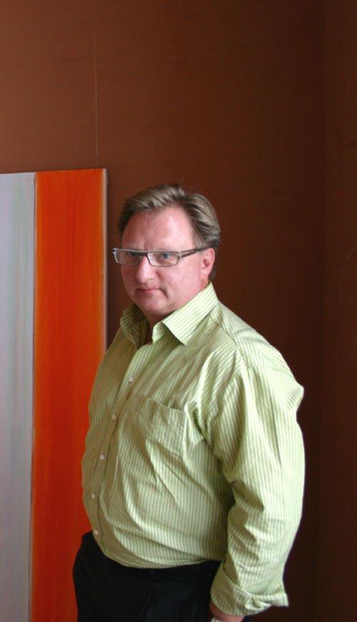 Bernt Petersen, formand for Kunstforeningen Det Ny Kastet. Foto: Kristian Handberg.