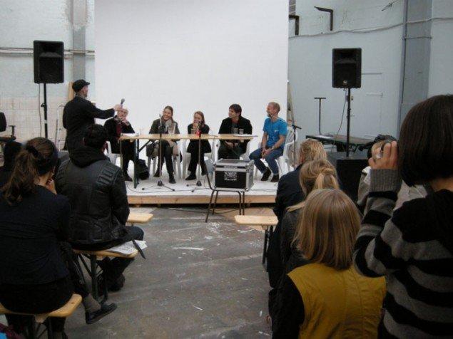 Debat om kunstens rolle i byfornyelsen under Alt_Cph. (Foto: Philip Tonda)