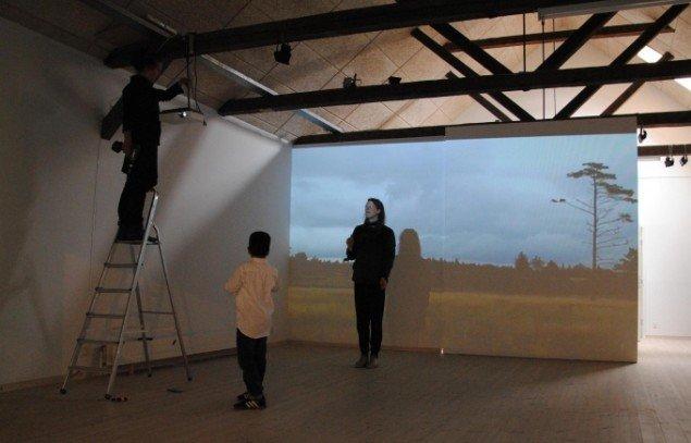 Videoprojektion af Harrild Hede, Kunstpakhuset. Foto: Bente Jensen