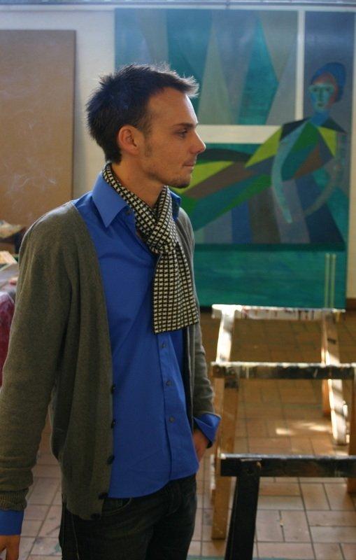 Henrik Godsk i atelieret. Foto: Kristian Handberg.
