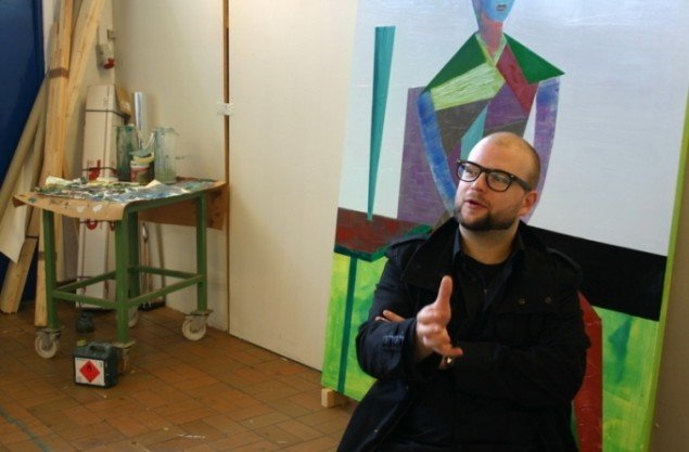 Jonas Pihl i samme atelier. Foto: Kristian Handberg.